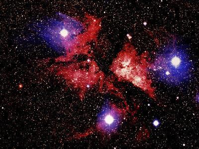 Nebula and Stars-Terry Why-Photographic Print