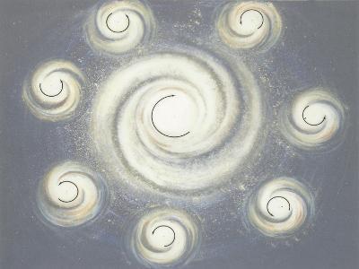 Nebula in Space--Giclee Print