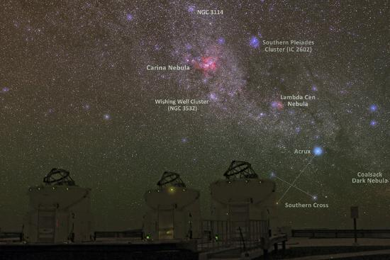 Nebulae and Star Clusters in the Milky Way over the Cerro Paranal Observatory-Babak Tafreshi-Photographic Print
