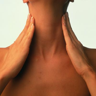 Neck Massage: Hands of Woman During Self-massage-Phil Jude-Photographic Print