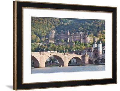 Neckar River with Karl Theodor Bridge-Markus-Framed Photographic Print