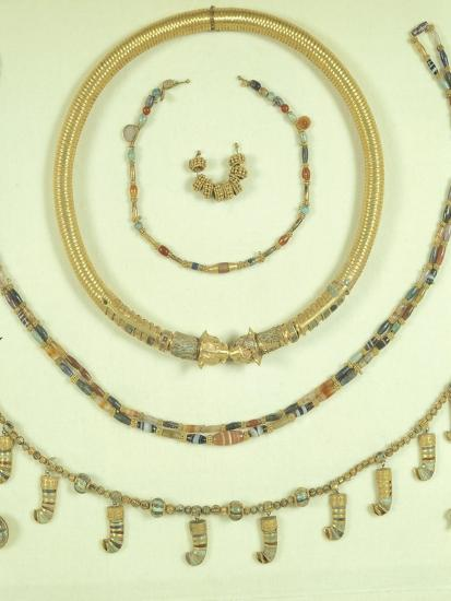 Necklaces, Pendants and Bracelets from Princess's Tomb in Susa or Shush, Iran--Giclee Print
