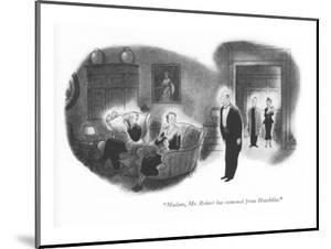 """Madam, Mr. Robert has returned from Hotchkiss."" - New Yorker Cartoon by Ned Hilton"