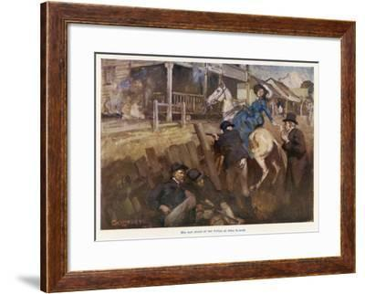 Ned Kelly Shoot Out, 1880--Framed Giclee Print
