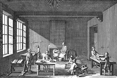 Needle-Making, 1751-1780--Giclee Print