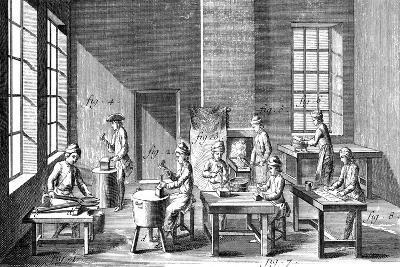Needle Making Workshop, 1751-1780--Giclee Print