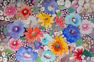 Floral Quilt by Neela Pushparaj