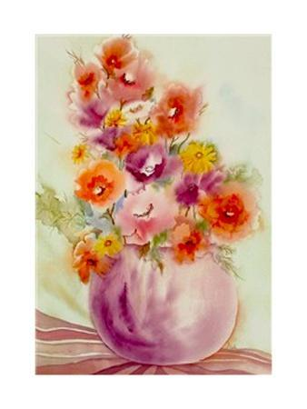 Flowers in a Purple Vase