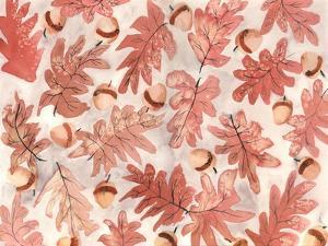 Oak Leaves and Acorns by Neela Pushparaj