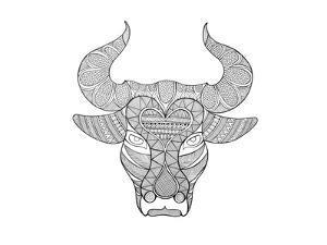 Animal Head Bull by Neeti Goswami
