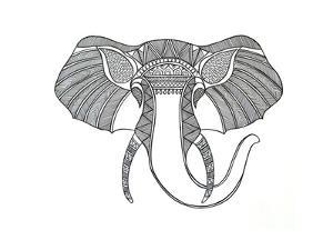 Animal Head Elephant by Neeti Goswami