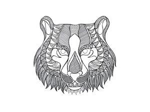 Animal Head Tiger by Neeti Goswami