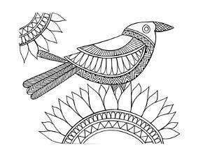 Bird Crow by Neeti Goswami