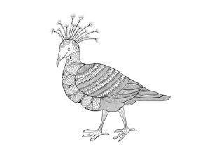 Bird Crowned Pigeon by Neeti Goswami