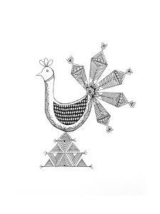 Bird Peacock 1 by Neeti Goswami
