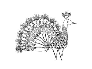 Bird Peacock 2 by Neeti Goswami
