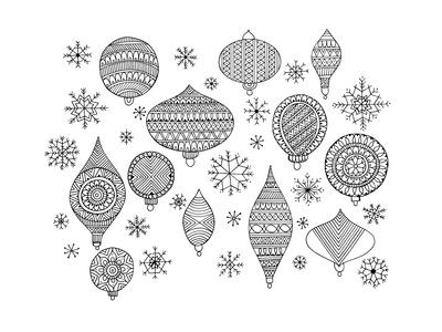 Pattern Christmas Ornaments