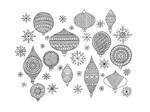 Pattern Christmas Ornaments by Neeti Goswami