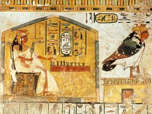 Nefertari Playing Senet, Detail of a Wall Painting from the Tomb of Queen Nefertari, New Kingdom
