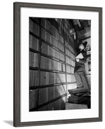 Neg Library--Framed Photographic Print