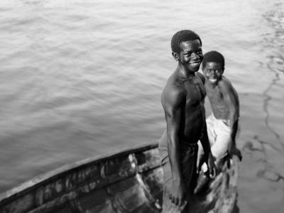 Negro Diving Boys, Nassau, W.I.--Photo