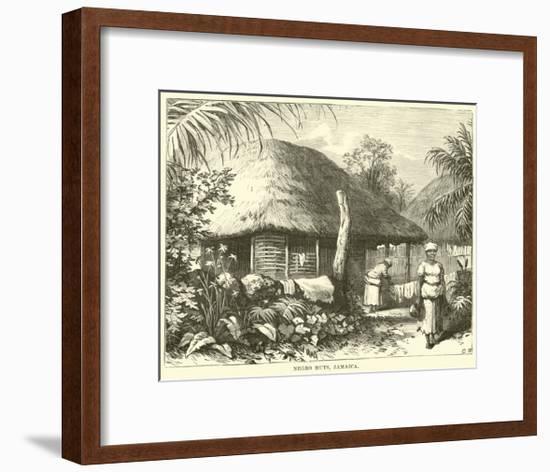 Negro Huts, Jamaica--Framed Giclee Print
