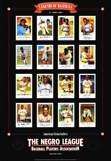 Negro League Baseball Legends-Lucinda Lewis-Art Print