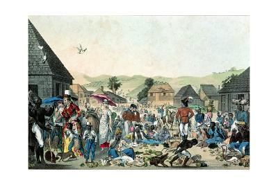 Negro Market in the West Indies, Published by Motte, 1806 (Colour Lith)--Giclee Print