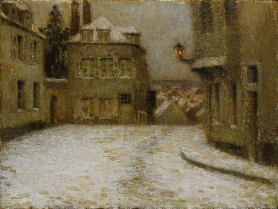 Neige, Montmartre-Henri Eugene Augustin Le Sidaner-Giclee Print