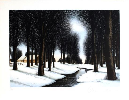 Neige sous les arbres-Jacques Deperthes-Limited Edition