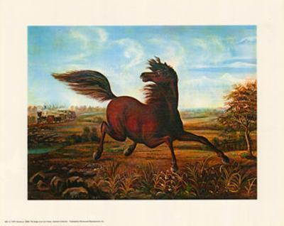 Neigh of an Iron Horse-A. Tapy-Art Print