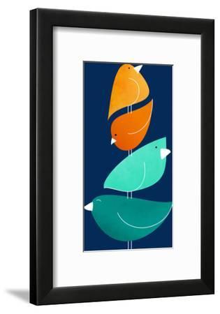 Neighborhood Watch-Modern Tropical-Framed Art Print