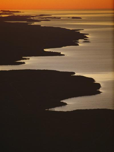 Neighboring Islands Lucille, Foreground, and Susie Fringe Lake Superior-Phil Schermeister-Photographic Print