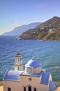 Church at Kantouni, Kalymnos, Dodecanese, Greek Islands, Greece, Europe by Neil Farrin