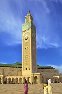 Exterior of Hassan Ll Mosque, Casablanca, Morocco, North Africa, Africa by Neil Farrin