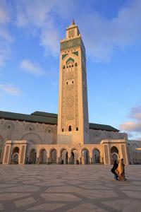 Exterior of Hassan Ll Mosque, Casablanca, Morocco, North Africa by Neil Farrin
