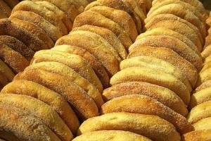 Freshly Baked Bread, Rabat, Morocco, North Africa, Africa by Neil Farrin