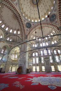 Interior, Fatih Mosque, Istanbul, Turkey, Europe by Neil Farrin
