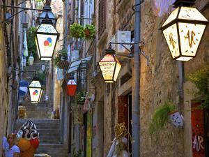 Lanterns, Dubrovnik, Dalmatia, Croatia by Neil Farrin