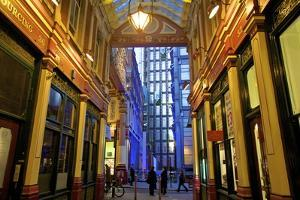 Leadenhall Market and Lloyds Building, London, United Kingdom, Europe by Neil Farrin