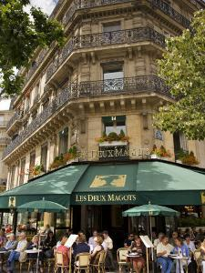 Les Deux Magots Restaurant, Paris, France by Neil Farrin
