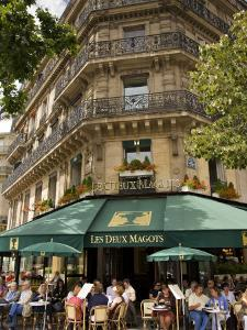 Les Deux Magots Restaurant, Paris, France by Neil Farrin
