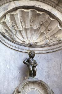Mannekin Pis, Brussels, Belgium, Europe by Neil Farrin