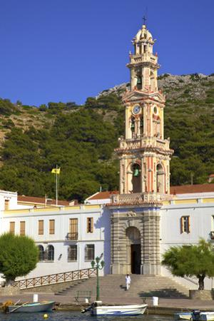 Moni Taxiarchi Michail Panormiti Monastery, Symi, Dodecanese, Greek Islands, Greece, Europe by Neil Farrin