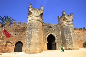 Musician Outside Bab Zaer, the Main Gate, Chellah, Rabat, Morocco, North Africa by Neil Farrin