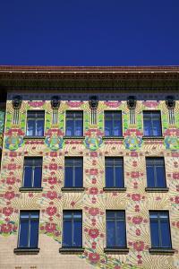 Otto Wagner's Art Nouveau Apartments, Majolica House, Vienna, Austria, Europe by Neil Farrin