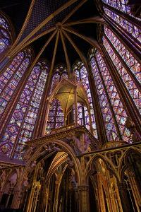 Sainte-Chapelle Interior, Paris, France, Europe by Neil Farrin