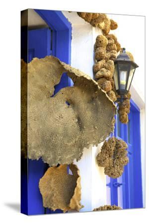 Shop Selling Sponges a Tradition of Kalymnos, Kalymnos, Dodecanese, Greek Islands, Greece, Europe