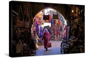 Souk, Marrakech, Morocco, North Africa, Africa by Neil Farrin