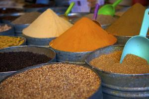 Spices, Fez, Morocco, North Africa, Africa by Neil Farrin